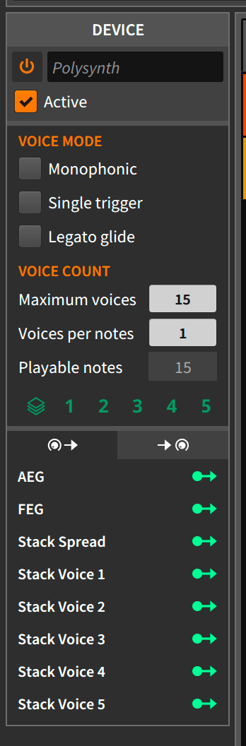 Voice Stacking and Device Panel
