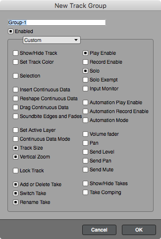 Track Grouping Preferences