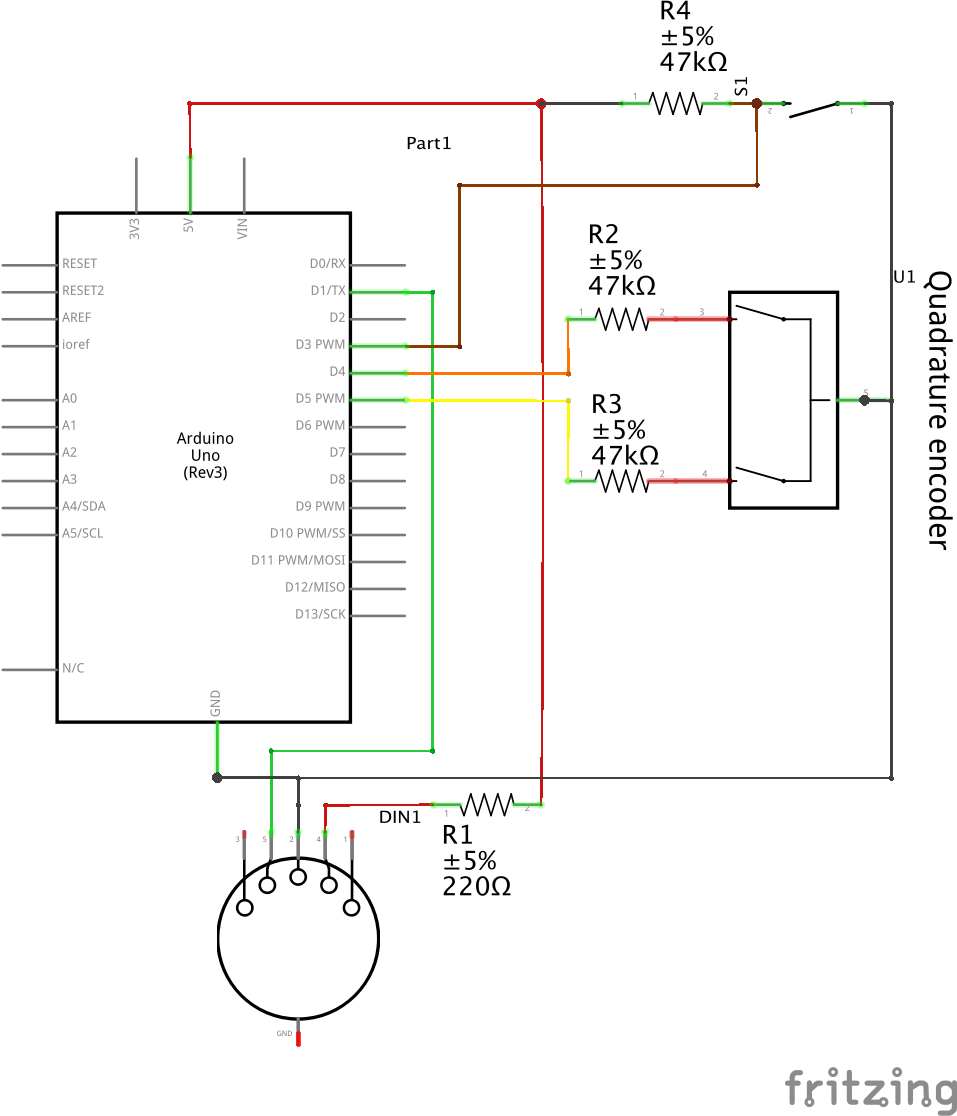 Simple Encoder Schematic