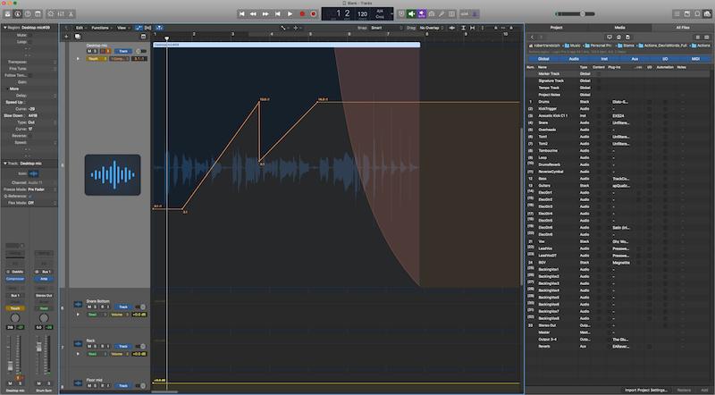 logic pro x reverse audio region