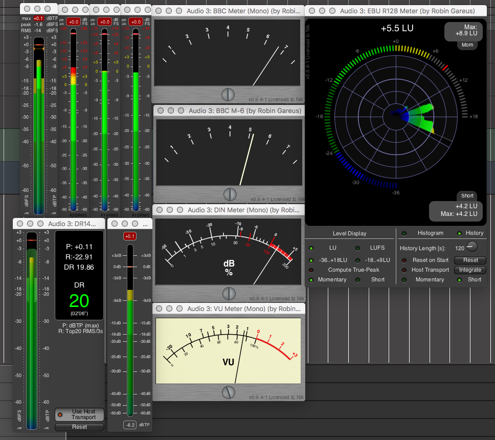 Review Of Mixbus Effect Plugins Phase Correlation Meter Collection Level Meters