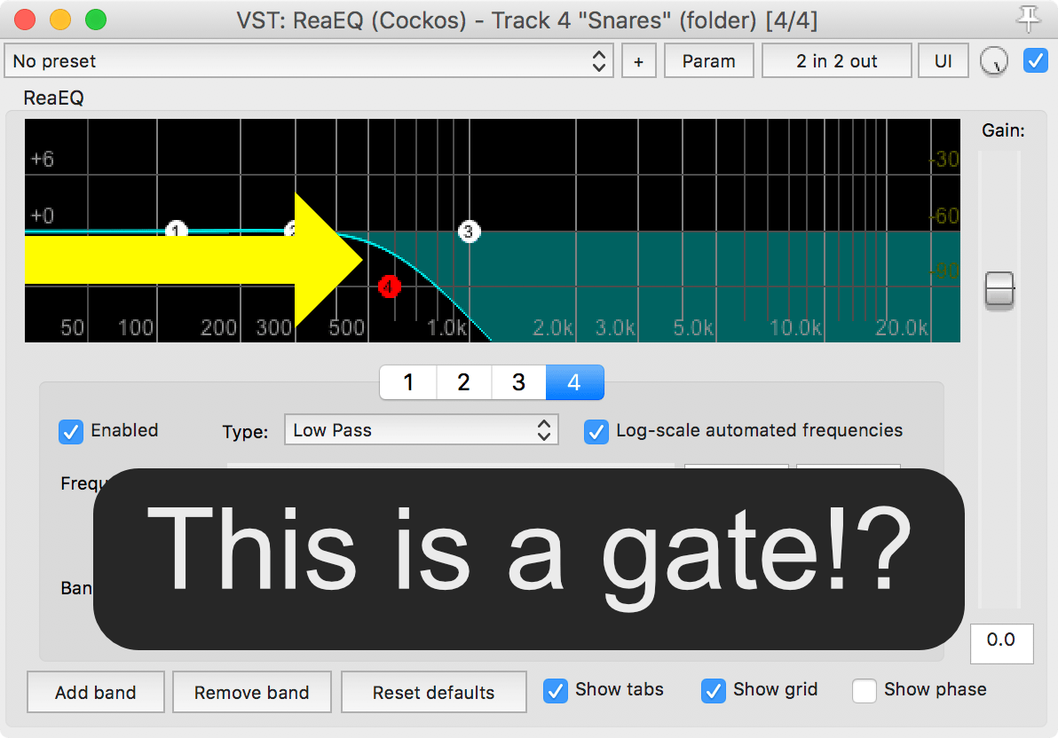 Drum Frequency Noise Gating