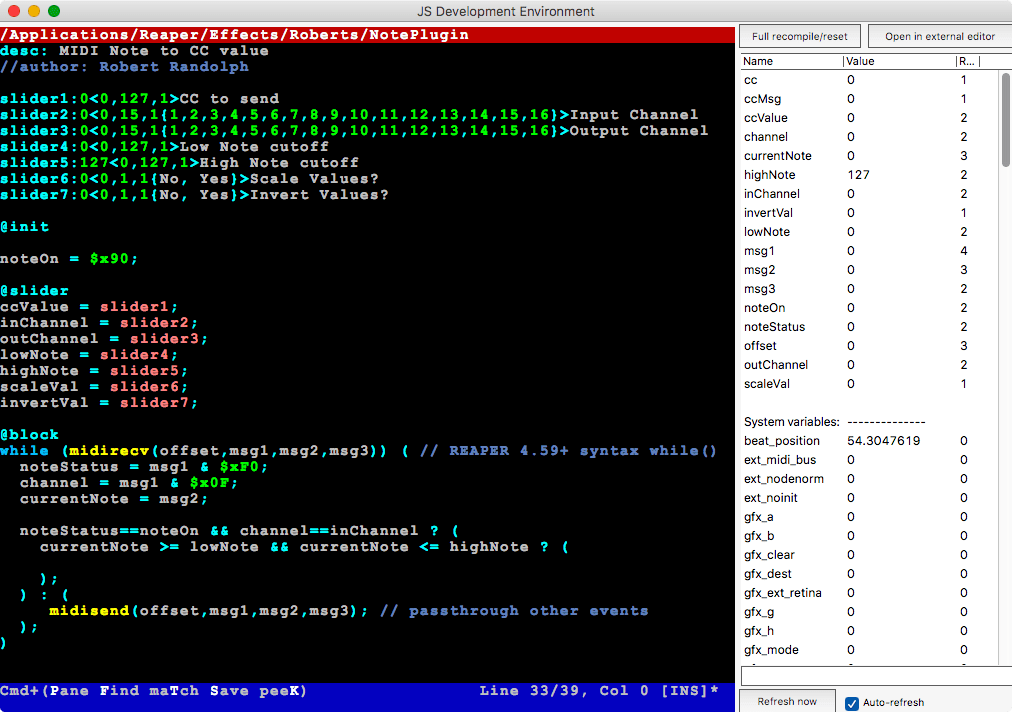 reaper js plugin tutorial