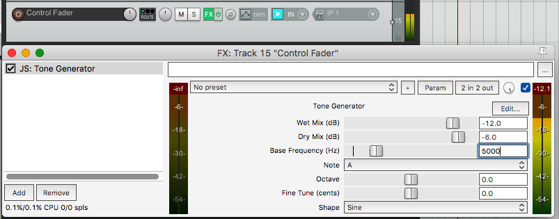 Control multiple parameters across tracks in Reaper with faders